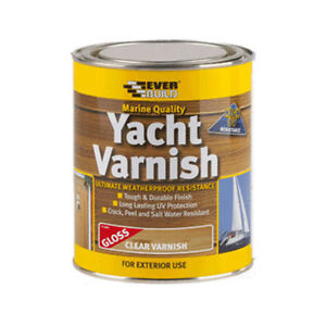 Image Is Loading EVERBUILD YACHT VARNISH CLEAR GLOSS MARINE QUALITY EXTERIOR