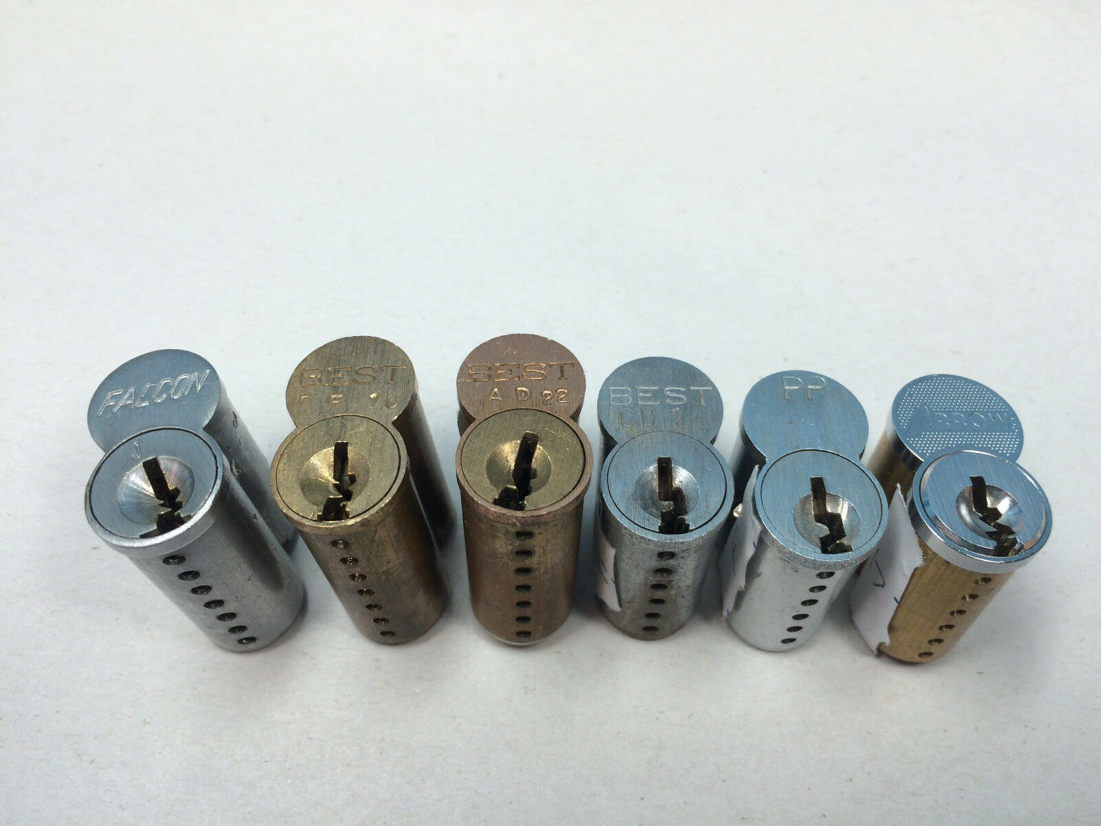 Sfic Cylinders 6 And 7 Pin Best Arrow Falcon No Keys Set Of 6 For Sale Online