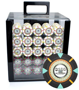 New 1000 The Mint 13.5g Clay Poker Chips Set with Acrylic Case - Pick Chips!