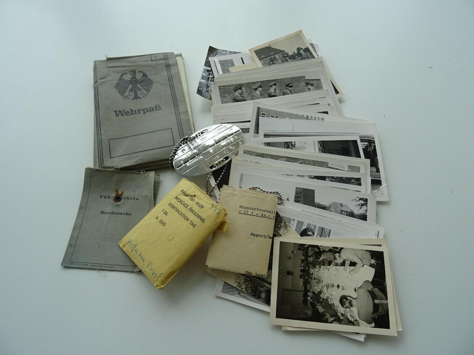 Bild 1 - Wehrpass, Erkennungsmarke, BW Führerschein, Papiere u. 90 Fotos frühe Bundeswehr