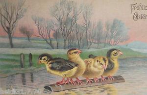 034-Easter-Kuken-Wood-Lake-Sunset-034-1908-Embossed-Postcard-10354