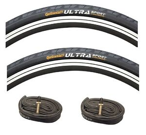 700C-Continental-700-x-28-Ultra-Sport-11-Road-Cycle-Black-Bicycle-Tyres-Tubes