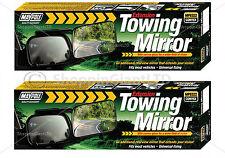 2x Caravan Car Trailer Towing Convex Mirror Extension Universal Mirrors MP8322