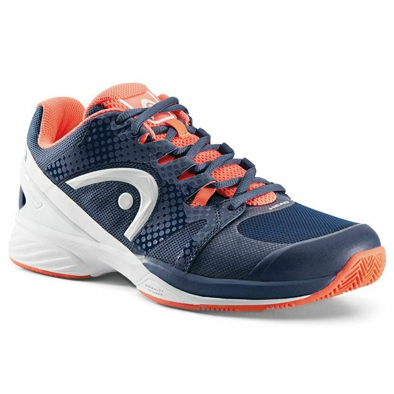 Head Womens Nzzzo Pro Clay Tennis shoes (Navy Coral)