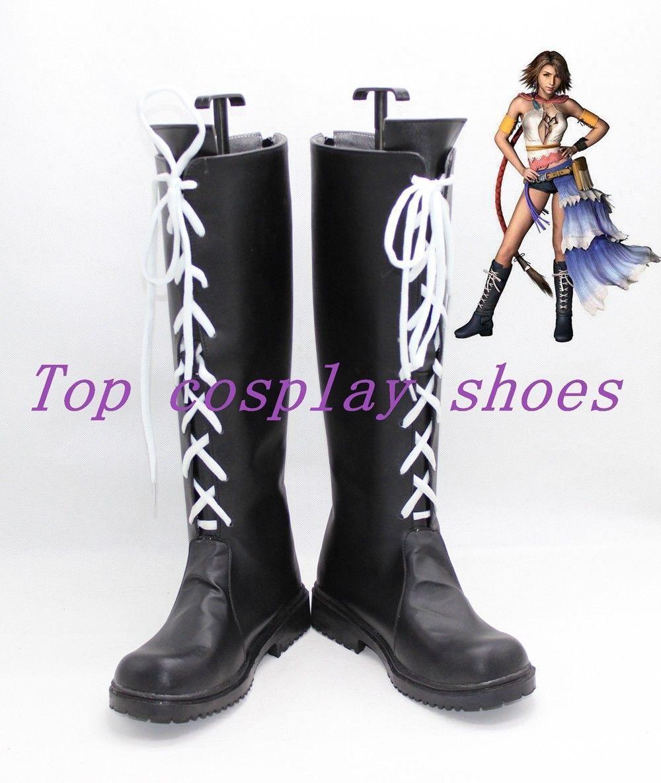 Anime Final Fantasy X-2 X Cosplay YUNA Summoner Cosplay Boots Shoes NN.1033