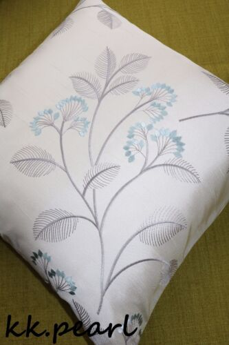 """JOHN LEWIS /""""Grace/"""" Elegant Gorgeous Cushion Cover  Fabric Embroidery Flowers 16/"""""""