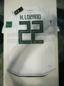 8ccf703c94e ADIDAS HIRVING LOZANO MEXICO 2018 WORLD CUP AWAY AUTHENTIC PLAYER ...
