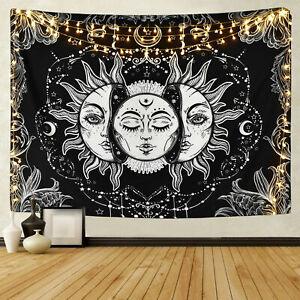 Sol y la Luna tapices Colgante De Pared Sol psicodélico Tapiz Decoración Hogar desaparecerá