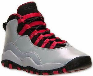 92406de8368150 Jordan Gradeschool Girl s Retro 10 (Gs) Wolf Grey black-legion Red ...