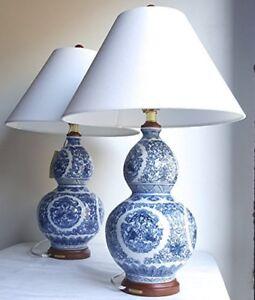 2 Ralph Lauren Large Zen Koi Fish Porcelain Ceramic Round Blue White