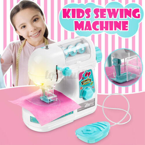Kids Children Simulated Mini Clothes Sewing Machine Role Play Home Appliance