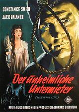 Horrorfilm-Plakat DER UNHEIMLICHE UNTERMIETER von 1953