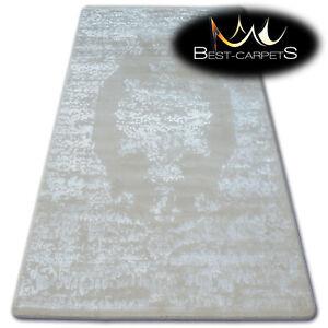 Tres-Doux-Laine-amp-acrylique-Tapis-ivoire-034-manyas-034-epais-amp-densement-tisse
