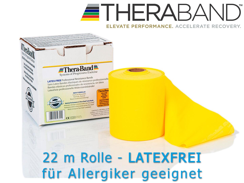 THERA-BAND ® latexfrei  22,0 m rot Gymnastikband Theraband für Allergiker