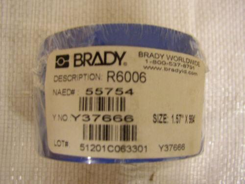"""BRADY PRINTER RIBBON R6006 1.57"""" X 984/'"""