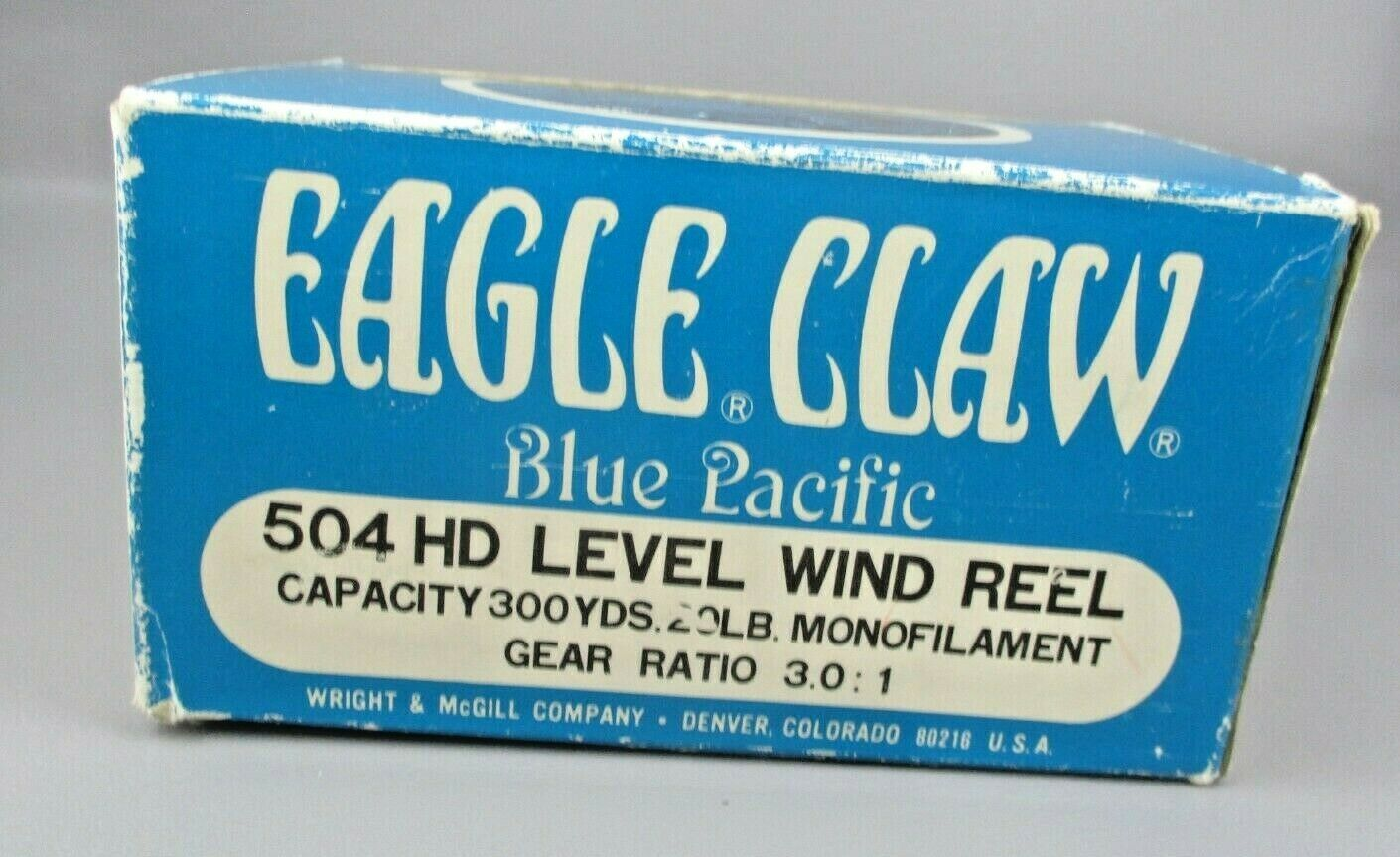 VINTAGE Wright & McGill EAGLE CLAW 504 HD  Level Wind FISHING REEL Super CLEAN  deals sale