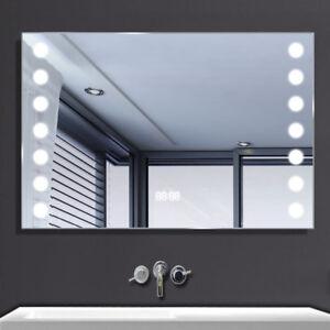 Large 800x600mm Bathroom Mirror Led Heated With Ir Sensor
