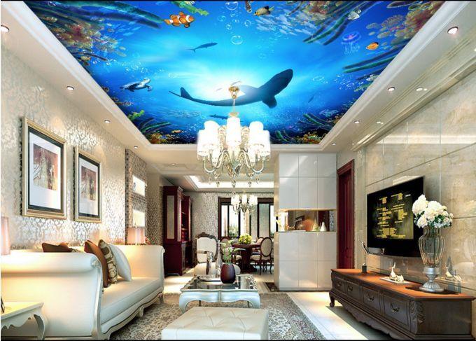 3D Ocean Sharks 3 Ceiling WallPaper Murals Wall Print Decal Deco AJ WALLPAPER GB