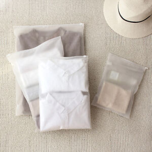 Clothes-Storage-Bag-Plastic-Slide-Seal-Matte-Clear-Travel-Cosmetic-Packing-LJL
