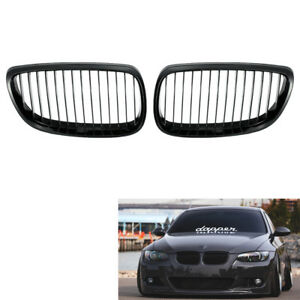 Pair of Gloss Black Grill Grille for BMW E92 E93 3 Series Coupe 06-09 Durable