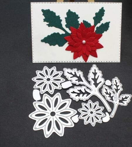 Flower Leaf Cutting Dies Stencil DIY Scrapbooking Paper Card Embossing Decor