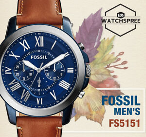 efc25cc89c25f Fossil Grant Chronograph Light Brown Men s Leather Watch FS5151 AU ...