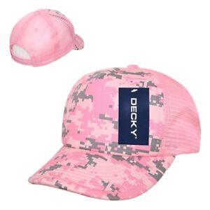 1491ecdc9bb Pink Digital Camo Camouflage Foam Mesh 5 Panel Military Trucker ...