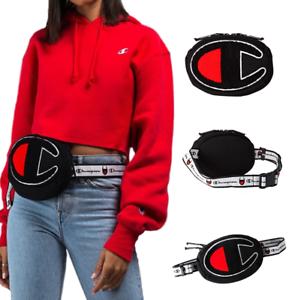 CHAMPION Large Logo Camo Black Red Prime Shoulder Waist Fanny Pack Bag Supreme