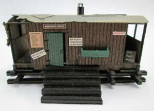 Ancorton-95872-OO-Gauge-Guard-039-s-Van-Allotment-Shed-Kit