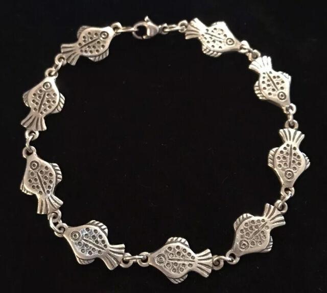 "James Avery Fish Link Bracelet 7.25"" Sterling Silver ..."