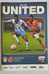 Football-Programme-Colchester-United-v-Fleetwood-Town-19-01-2016-VGC