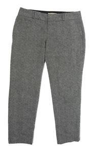Womens-Banana-Republic-Grey-Wool-Blend-Trousers-Size-6-L25