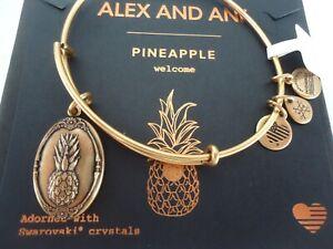 Alex and Ani Pineapple III Bangle Bracelet Expandable