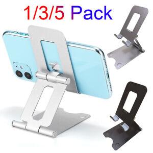 Foldable Cell Phone Tablet Desk Stand Holder Mount Cradle Adjustable For iPhone