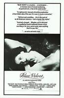 Blue Velvet (1986) Original Review Movie Poster - Rolled