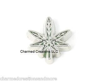 Pot-Leaf-Marijuana-Hemp-Floating-Charm-For-Glass-Memory-Locket