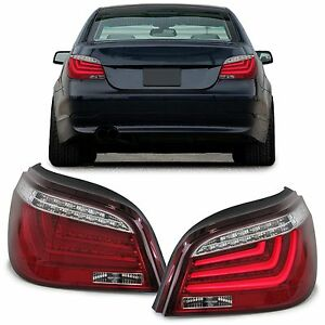 Clear led rear lights lightbar lamps for bmw e60 5 series saloon 7 image is loading clear led rear lights lightbar lamps for bmw aloadofball Images