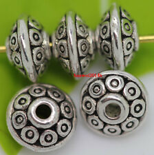 100 Tibet Silver Big Flower End Bead Caps 19x8mm ZN26044
