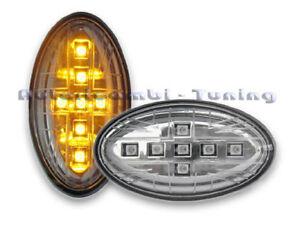 indicatori-FRECCE-LATERALI-LED-CROMATE-Union-Jack-MINI-COOPER-R50-R52-R53