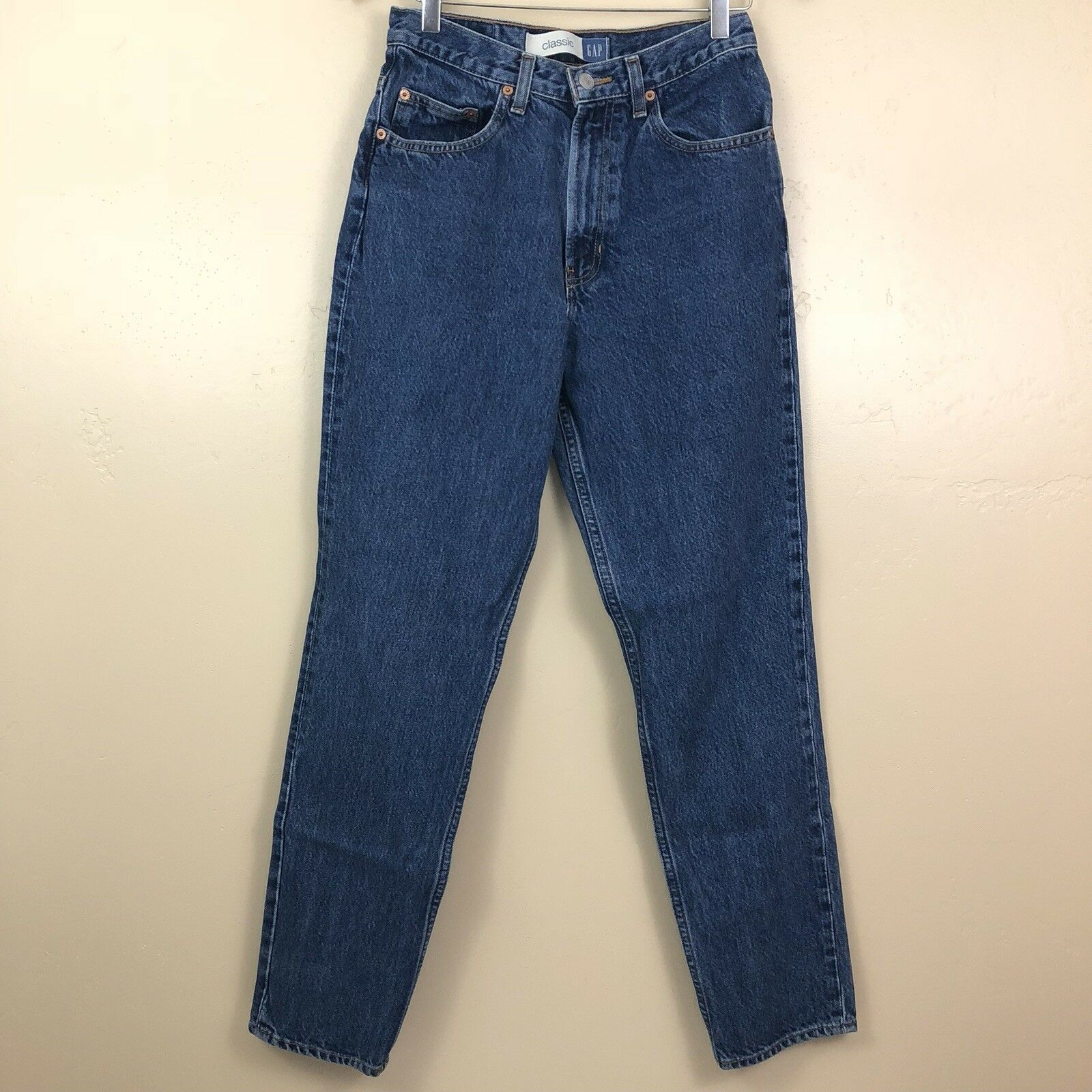 Vintage Womens Gap bluee Jeans 8 Classic Fit Cotton Tapered Leg High Rise 27x30