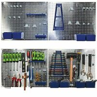 Sealey S01102 34Pc Metal Wall Storage Tool Pegboard Holder With Hooks & Boxes