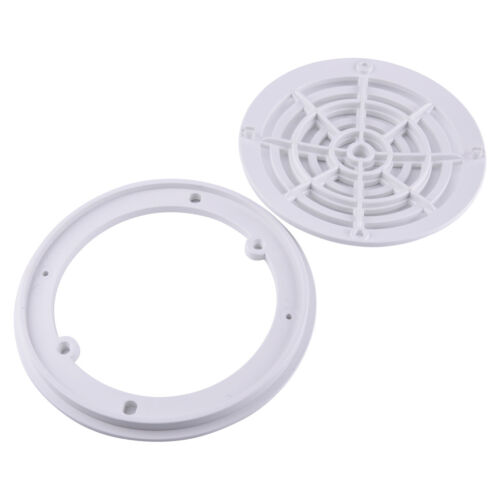 8 Inch Universal Replacement Round Swimming Pool Main Drain Cover White