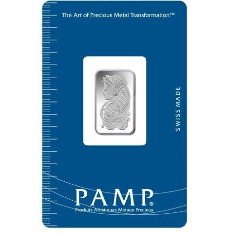Pamp Suisse Fortuna New w//Assay 5 Gram Silver Bar