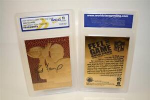 BRETT-FAVRE-1991-Draft-Pick-FEEL-THE-GAME-Gold-Card-Rookie-Graded-GEM-MINT-10