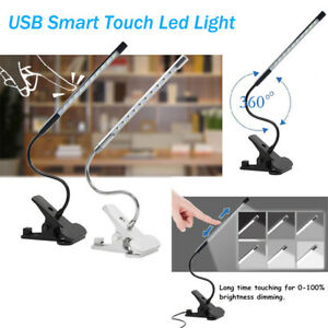 Adjustable-USB-Reading-LED-Touch-Dimmable-Flexible-Clip-on-Table-Desk-Lamp-Light
