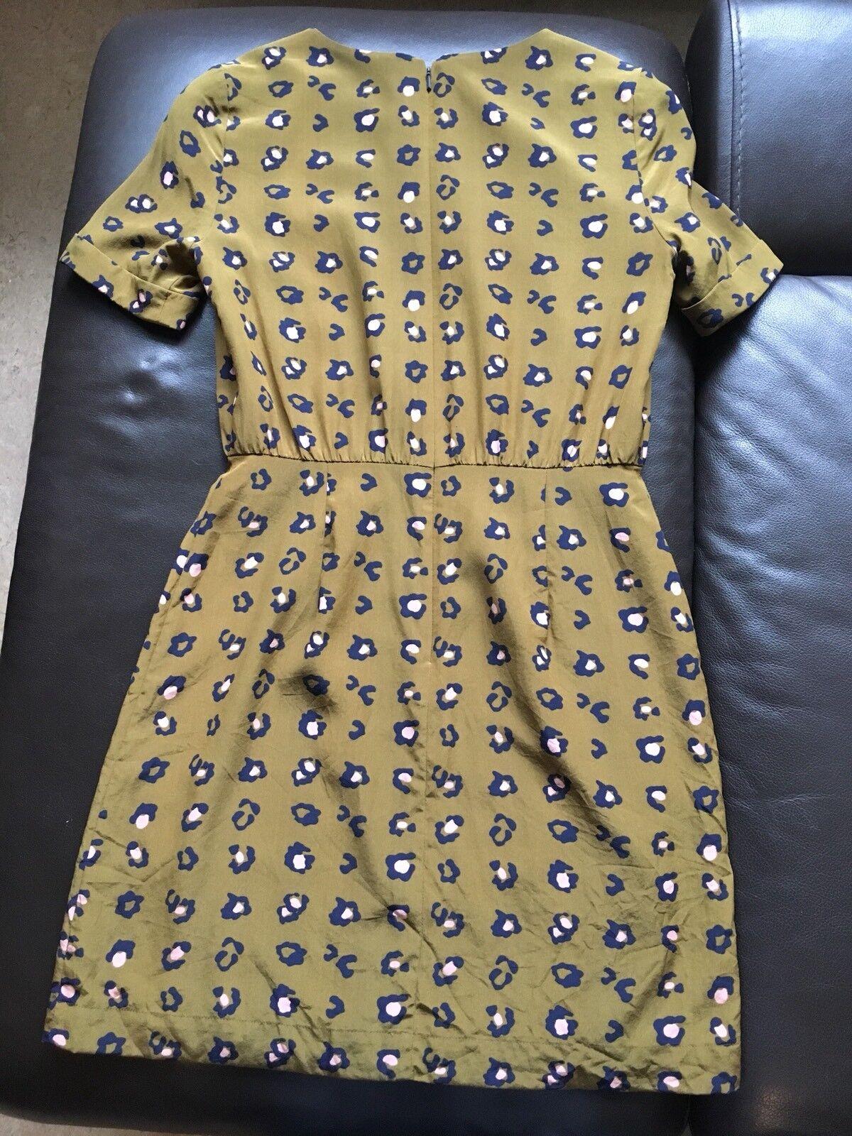 Fossil Damen Kleid Leopardmuster Gr. XS Silk Silk Silk 100% Seide   Deutschland Outlet    Online-Shop    Klein und fein  fc5d0b