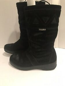 Tecnica-Womens-Genuine-Black-Fur-Boots-Made-In-Italy-5745-U-S-Women-039-s-SIZE-7