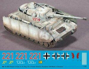 Peddinghaus 1/16 Panzer IV Ausf H Markings Pz R  35 / 4  Pz