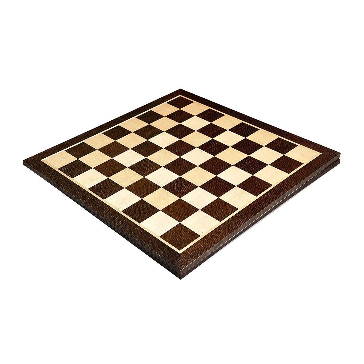 Smoked Oak & Maple Wooden Chess Board - 2.25