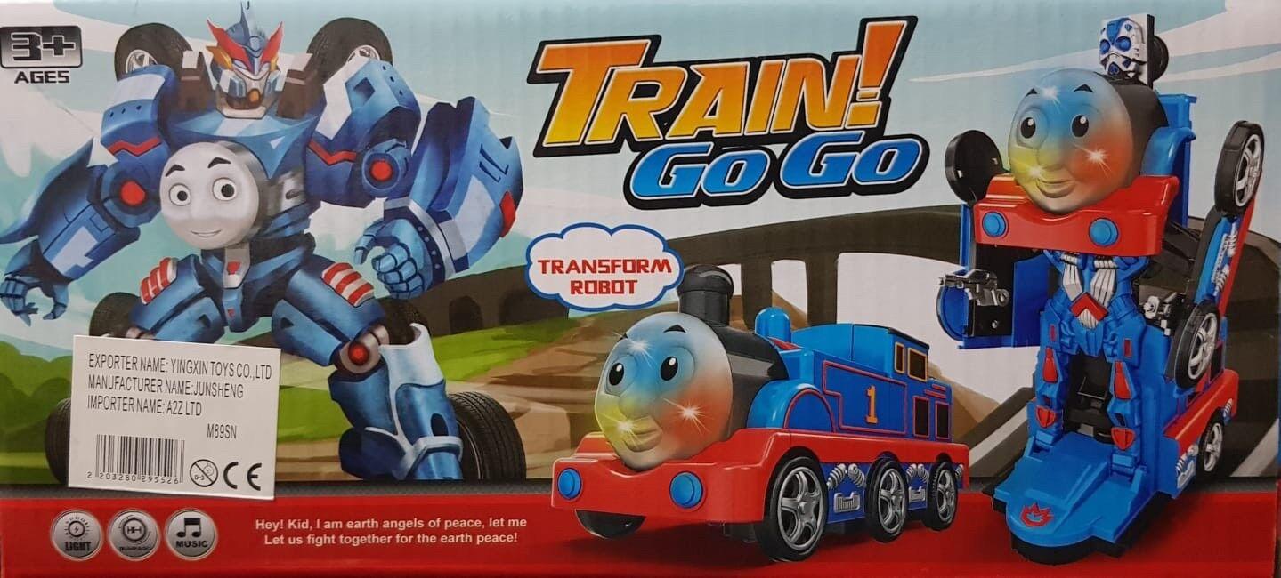 TRANSFORMER ROBOT THOMAS ENGINE BUMP N GO TRAIN FLASHING LIGHTS SOUND KIDS TOYS